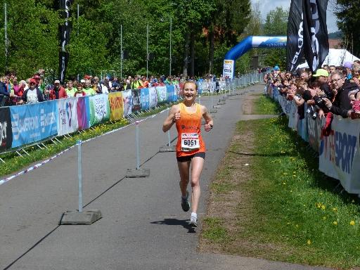 Zieleinlauf Rennsteigmarathon