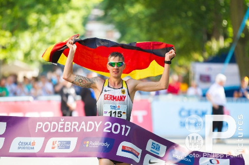 Christopher Linke als erster Deutscher die 20km
