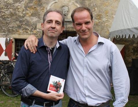 Autor Frank Lauenroth mit Johannes Steck