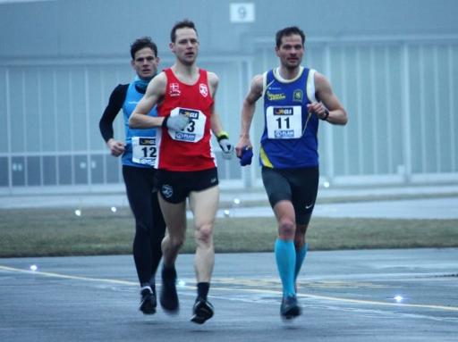 Early lead group: Gerrit Wegener, Alex Dautel, Marco Bscheidl (left to right)